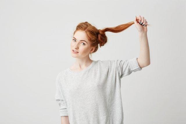 結んだ髪をほどく